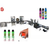 Buy cheap Precision Automatic Aerosol Filling Machine for Mosquito Aerosol Can 800-1100cans/hour product