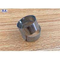 China 304 316 Perforated Filter Tube , Round Hole Stainless Steel Screen Tube on sale