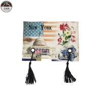 China Tassels Digital Printed Patches / Custom Photo Patches Eco Friendly 13*19CM Size on sale