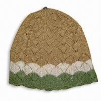 Quality Women's Knitted Hat, Made of 100% Acrylic for sale