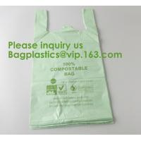 China Heavy Duty Compostable T-shirt Handle Tie Plastic Roll Garbage Bags Trash Bags, t shirt carry bags, bagease, bagplastics on sale