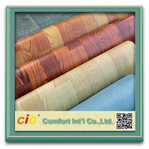 Quality Custom Printing Wood Grain Artos PVC Floor Covering , Plastic Floor Coverings for Wedding for sale