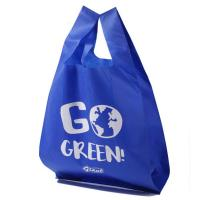 Quality Large Capacity T-Shirt Non Woven Bag,Nonwoven Shopping T Shirt Bags Supermarket Easy Carry Shopping Bags for sale