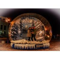 Buy cheap Xmas Promotion Large Inflatable Globe Fake Snow Type Clear PVC Materials from wholesalers