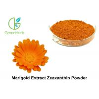 China Natural Food Coloring Powder , 5% Marigold Flower Extract Zeaxanthin Powder on sale