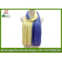 Buy cheap Chinese factory frayed two colors ombre lightweight scarf 100% Viscose 70*180cm from wholesalers