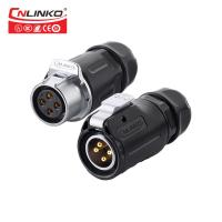 China 20A Cnlinko M20 Push Pull Waterproof Circular Connectors on sale
