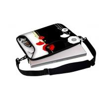 """Quality 15.6"""" inch Full Color Printing waterproof neoprene laptop sleeve with handle and shoulder strap for sale"""