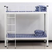 Quality Knocked Down Steel Bunk Bed Student Dormitory Apartment Bed for sale