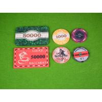 Buy cheap 40mm Custom Ceramic Poker Chip , Casino Oversize Chips With Denomination product