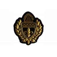 China Machine Made Military Beret Badges Adhesive Embroidered Iron On Patches on sale