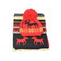 China Acrylic Xmas Themed Warm Winter Accessories Scarves Set Custom For Adults on sale