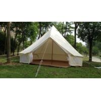 Buy cheap Single Layers White Outdoor Canvas Tent / Cotton Bell Tent For Hiking Equipment from wholesalers