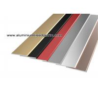 Quality Flat Tile Trim / Metal Decorative Transition Strips For Wall Tile Separation for sale