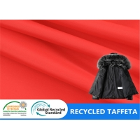 China 100% Recycled Polyester Taffeta Plastic Bottle Fabric Durable For Shopping Bags Cloth Lining on sale