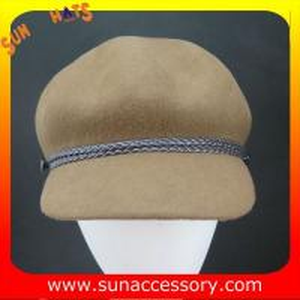 China Fashion hot sale wool felt newsboy hats for womens,100% Australia wool felt hats for girls on sale