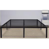 Buy Heavy weight Steel Slat Bed Frame,King Size Bed Metal Frame With Safe Round Edge at wholesale prices