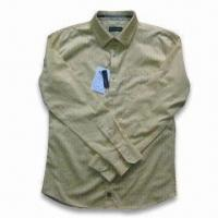 Buy cheap Men's Long Sleeve Casual Shirt, Available with Printing from wholesalers