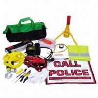 Quality Car Emergency Kit for Safety, Bag Made of 600D Material for sale