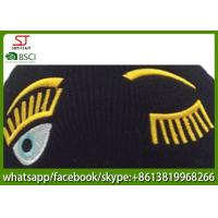 Quality Chinese manufactuer embroider knitting stripe hat 53g 20*22cm 100%Acrylic keep warm for sale
