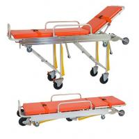 Quality Ambulance Folding Patient Transport Stretchers Aluminum Loading With IV Pole for sale