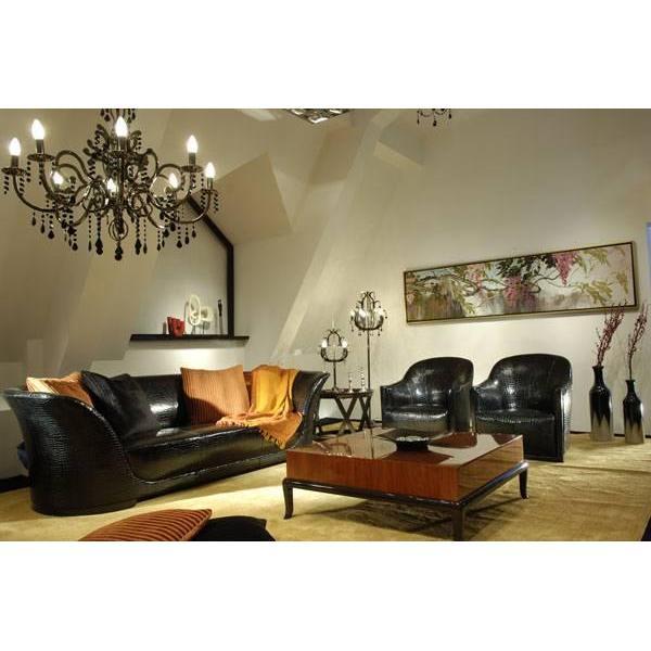 High-end Designer Furniture: Genuine Leather Living Room