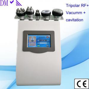 China 5 in 1 ultrasonic cavitation liposuction machine tripolar rf skin tightening six polar rf vacuum body slimming machine on sale