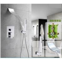 China Space Saving Waterfall Shower Faucet , Shower Faucet Set With Hand Shower Spray on sale