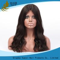China 7A No Chemical Full Lace Human Hair Wigs Soft  Silky Loose Wave No Shedding on sale