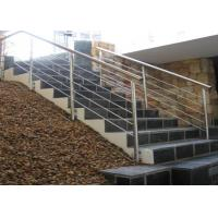 Customized Color Stainless Steel Staircase Railing For Restaurants / Commercial Buildings