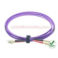 Quality OM4 Fiber Patch Cord LC - LC Duplex Fiber Patch Cable Stable Performance for sale