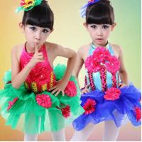 China girls Sunflower performance sequins veil dance costumes JQ-553 on sale