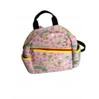 Quality Pink Neoprene Personalized Kids Backpacks With Fairy Tale Scene Heat-Transfer Printing for sale