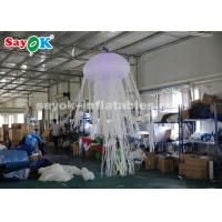 China 1.5m Glowing with 16 Colors Inflatable Hanging Jellyfish Inflatable Lighting Decoration on sale