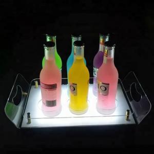Quality Acrylic Led Bar Shelves Led Liquor Shelf Display Stand Tray For Storage for sale