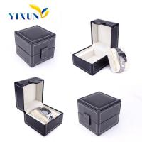 Buy cheap watch storage box black pu leather watch case from wholesalers