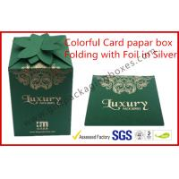 Quality Fashion Green Card Board Packaging Box Rectangle for supermarket for sale