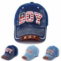 China Applique worn out Cow Boy Jeans Styles Unisex Baseball Caps For Summer Children Sports on sale