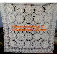 China cotton crochet bed sheet cover for bed ribbon embroidered table cloth bed cover bedspread on sale