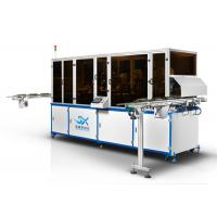 Quality Wine Glass Bottle  Automatic Screen Printing And Hot Stamping Machine With LED UV Curing Device for sale