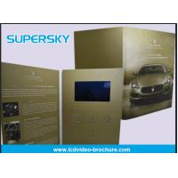 Buy Rechargeable LCD Video Brochure , Video In Print Brochure For Advertising at wholesale prices