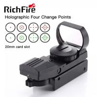 Quality 4 Reticle Paintball Gun Scopes 11mm 20mm Red Green Dot Reflex Sight High Stability for sale