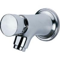 Quality Water Saving Chrome Self Closing Faucet Taps Wall Mounted for Home Hotel , HN-7H05 for sale