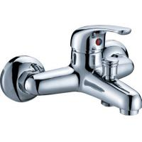 Quality Modern Polished Two Hole Faucet , Ceramic Cartridge Bathtub Mixer Tap for sale