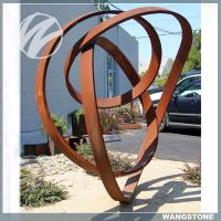 Quality Unique Garden Art Sculptures / Corten Garden Sculpture Welding Technique for sale