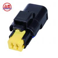 China Black Waterproof Auto Wire Connectors / Waterproof Electrical Connectors 2 Wire on sale