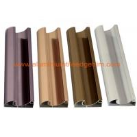 C Shaped Aluminium Cabinet Door Profiles Lightweight For Crystal Steel Shutter
