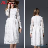 Quality Promotional Custom Cocktail Party Dress White Lace Type A Line Silhouette for sale