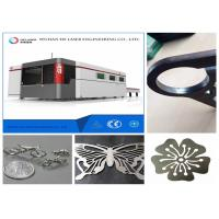 Copper Fiber Metal Laser Cutting Machine , Stainless Steel Cutting Machine