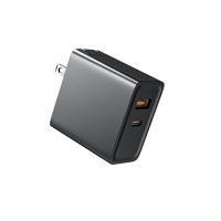 Buy cheap GaN 65W Double Port Wall Charger FCC Short Circuit Protection from wholesalers